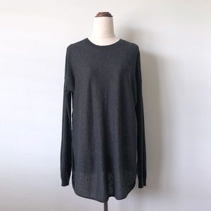 COUNTRY ROAD Charcoal Grey Merino Wool Silk Top